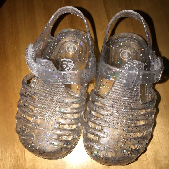 Clear Glitter Jelly Shoes Baby   Poshmark